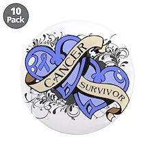 """Stomach Cancer Survivor 3.5"""" Button (10 pack)"""
