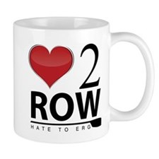 Love 2 Row Small Mug