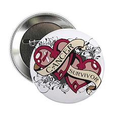 """Throat Cancer Survivor 2.25"""" Button"""
