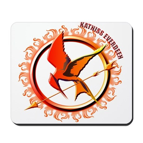 Katniss Everdeen the Girl Who Was on Fire Mousepad