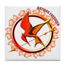 Katniss Everdeen the Girl Who Was on Fire Tile Coa