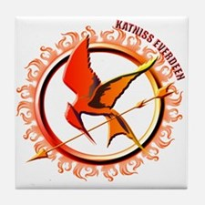 Katniss Everdeen the Girl Who Was on Fire Tile Coa