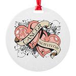 Uterine Cancer Survivor Round Ornament