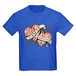 Uterine Cancer Survivor Kids Dark T-Shirt