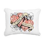 Uterine Cancer Survivor Rectangular Canvas Pillow