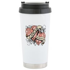 Uterine Cancer Survivor Travel Coffee Mug
