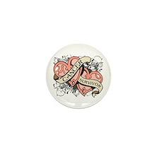 Uterine Cancer Survivor Mini Button