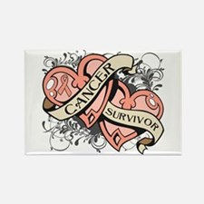 Uterine Cancer Survivor Rectangle Magnet