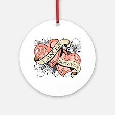 Uterine Cancer Survivor Ornament (Round)