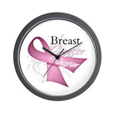 Pink Breast Cancer Warrior Wall Clock