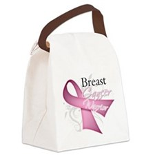 Pink Breast Cancer Warrior Canvas Lunch Bag