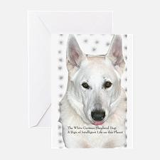 White German Shepherd Dog - A Greeting Cards (Pack