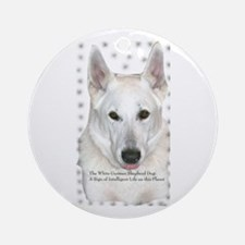 White German Shepherd Dog - A Ornament (Round)