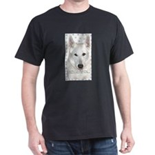 White German Shepherd Dog - A Black T-Shirt
