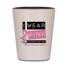 Mother-in-Law Breast Cancer Shot Glass
