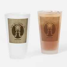 Vintage Gemini Drinking Glass