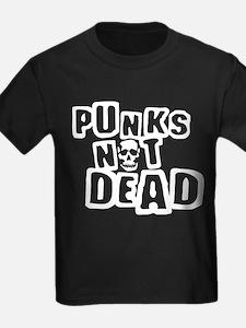 punks not dead skull T
