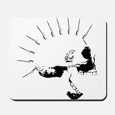 punks not dead skull Mousepad
