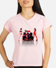 racing car and sexy babes Performance Dry T-Shirt