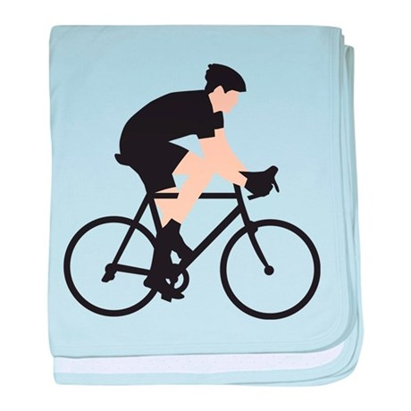 evolution bicycle race baby blanket