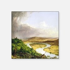 "Thomas Cole The Oxbow Square Sticker 3"" x 3"""