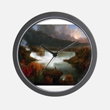 Thomas Cole Niagara Falls Wall Clock