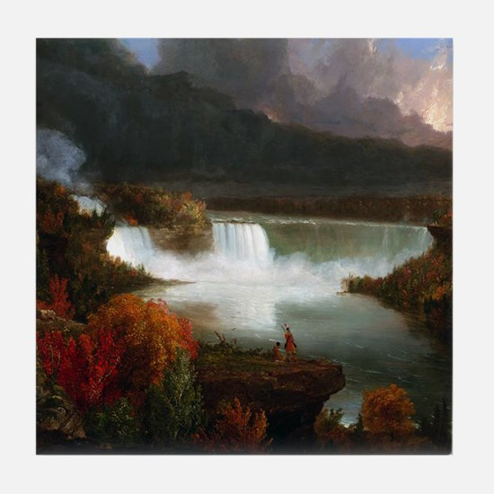 Thomas Cole Niagara Falls Tile Coaster