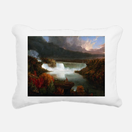Thomas Cole Niagara Falls Rectangular Canvas Pillo