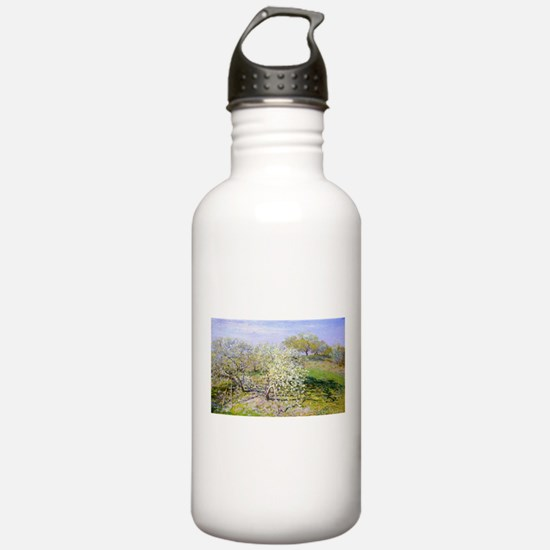 Claude Monet Apple Trees Water Bottle