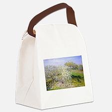 Claude Monet Apple Trees Canvas Lunch Bag