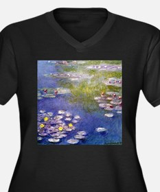 Monet Nympheas at Giverny Women's Plus Size V-Neck