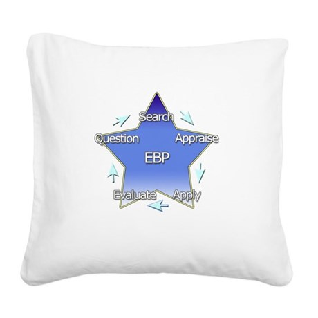 Evidence Based Practice Square Canvas Pillow