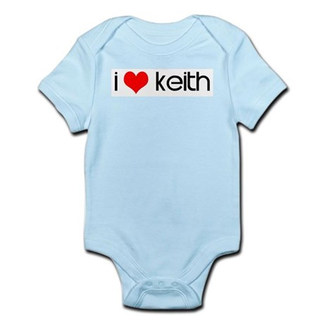 I Love Keith Infant Creeper