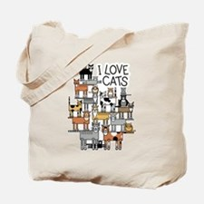 I Love Cats Tote Bag