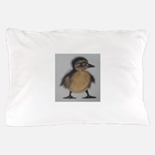 Drawing of Fuzzy Duckling Pillow Case