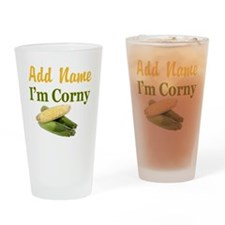 I LOVE CORN Drinking Glass