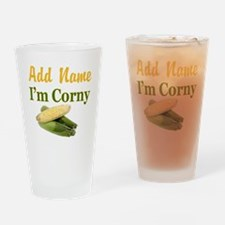 I LOVE CORN Drinking Glass