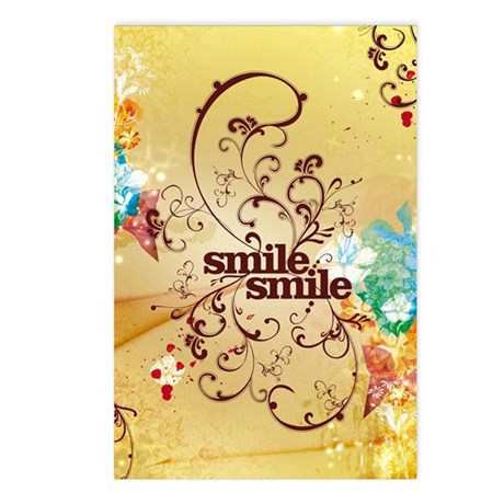 Smile Smile Postcards (Package of 8)