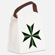Green Maltese Cross Canvas Lunch Bag
