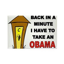 OBAMA OUTHOUSE Rectangle Magnet