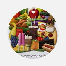 Gluten Free Foodpile (for light backgrounds) Ornam