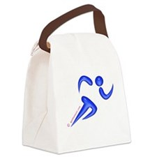 Running Blue Canvas Lunch Bag