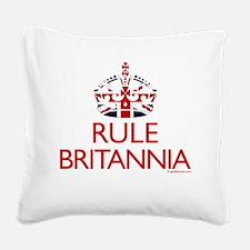 Rule Britannia Square Canvas Pillow
