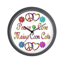 Maine Coon Cats Wall Clock