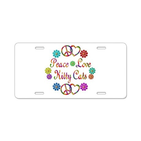 Kitty Cats Aluminum License Plate