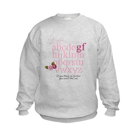 Gluten Free Alphabet Pink Kids Sweatshirt