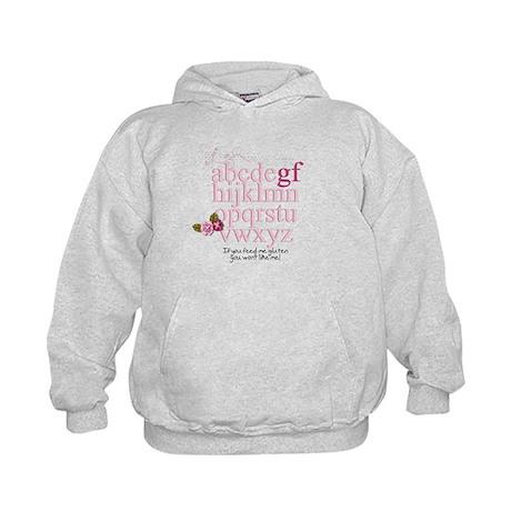 Gluten Free Alphabet Pink Kids Hoodie