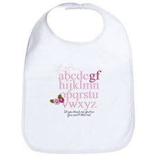 Gluten Free Alphabet Pink Bib