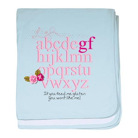 Gluten Free Alphabet Pink baby blanket