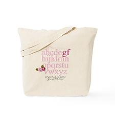 Gluten Free Alphabet Pink Tote Bag